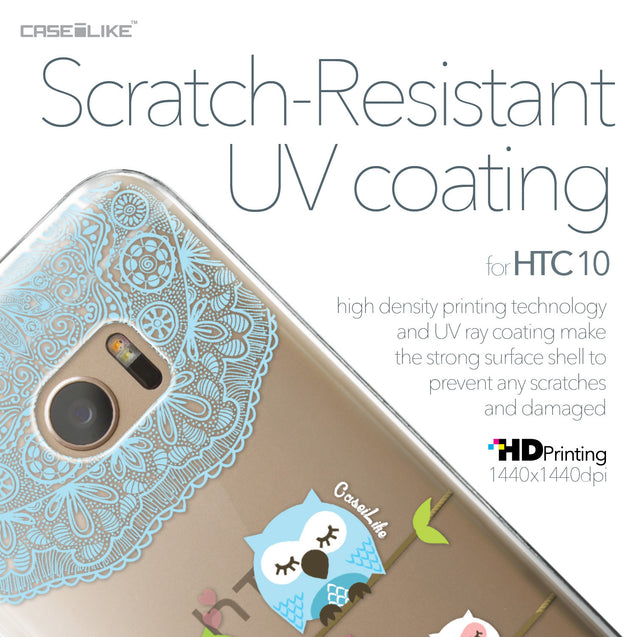 HTC 10 case Owl Graphic Design 3318 with UV-Coating Scratch-Resistant Case | CASEiLIKE.com