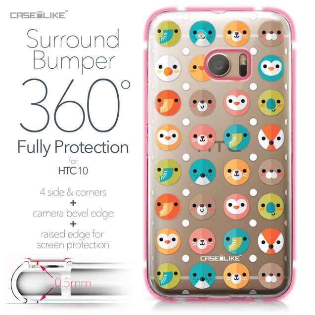 HTC 10 case Animal Cartoon 3638 Bumper Case Protection | CASEiLIKE.com