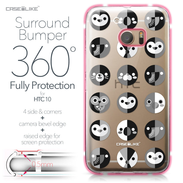 HTC 10 case Animal Cartoon 3639 Bumper Case Protection | CASEiLIKE.com