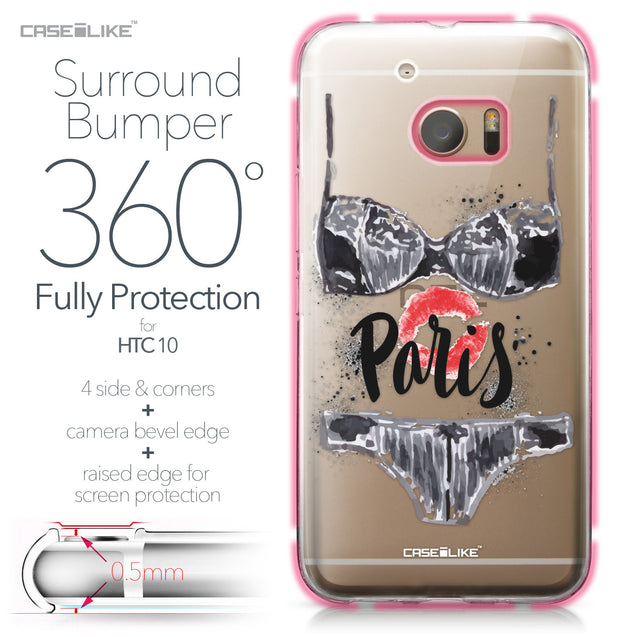 HTC 10 case Paris Holiday 3910 Bumper Case Protection | CASEiLIKE.com