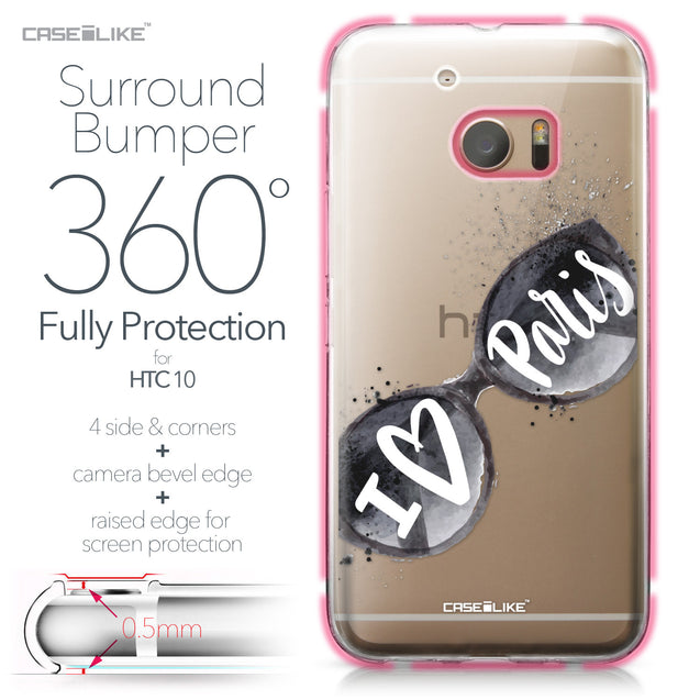 HTC 10 case Paris Holiday 3911 Bumper Case Protection | CASEiLIKE.com