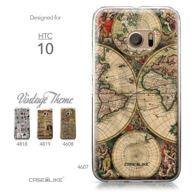 HTC 10 case World Map Vintage 4607 Collection | CASEiLIKE.com