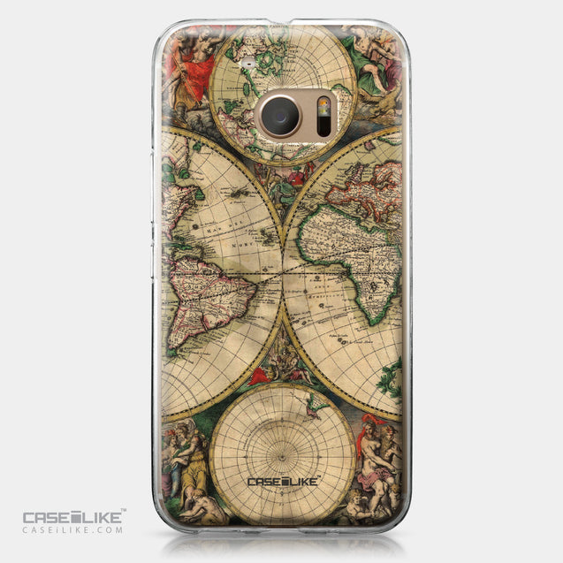 HTC 10 case World Map Vintage 4607 | CASEiLIKE.com