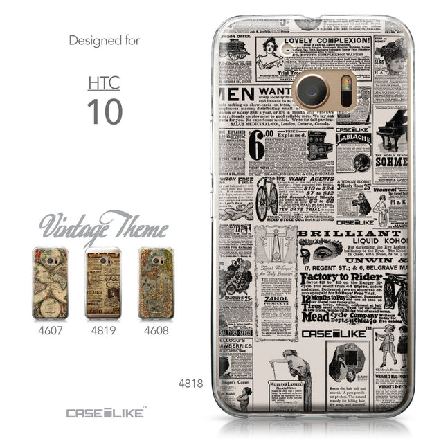 HTC 10 case Vintage Newspaper Advertising 4818 Collection | CASEiLIKE.com