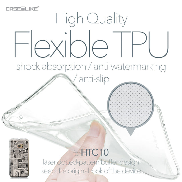 HTC 10 case Vintage Newspaper Advertising 4818 Soft Gel Silicone Case | CASEiLIKE.com