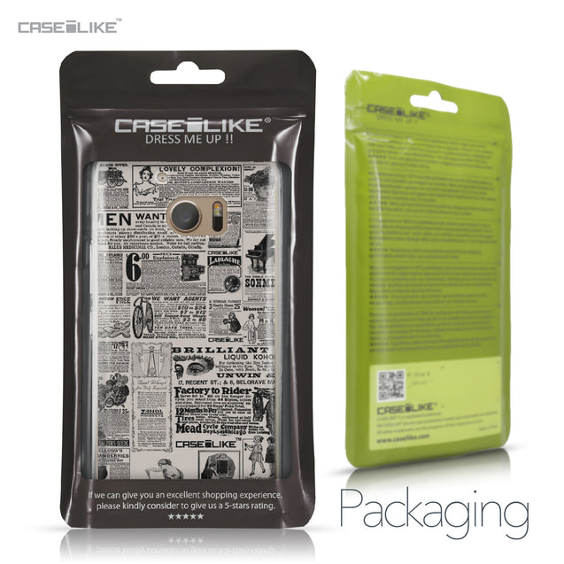 HTC 10 case Vintage Newspaper Advertising 4818 Retail Packaging | CASEiLIKE.com