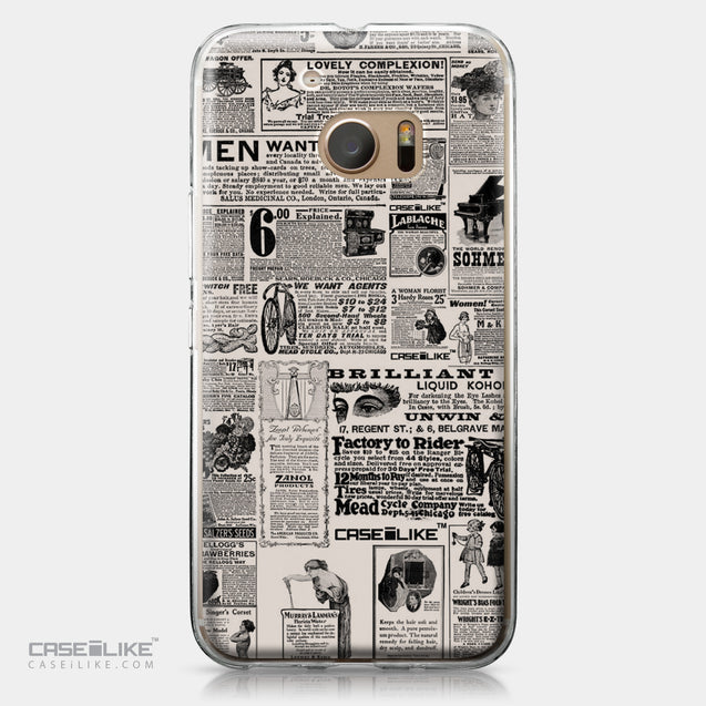 HTC 10 case Vintage Newspaper Advertising 4818 | CASEiLIKE.com