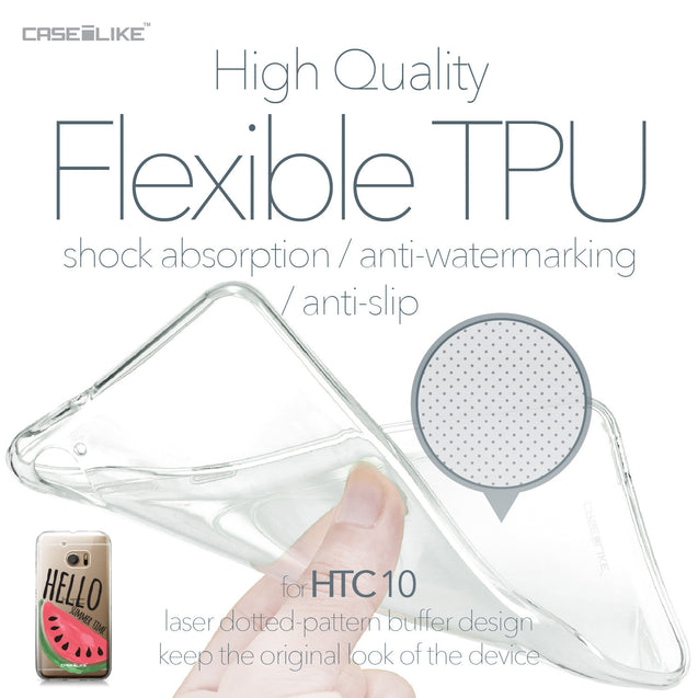 HTC 10 case Water Melon 4821 Soft Gel Silicone Case | CASEiLIKE.com