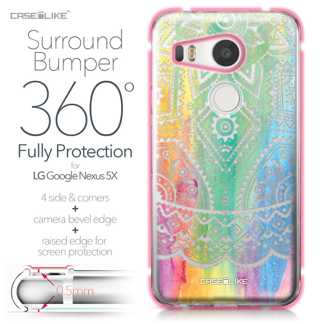 LG Google Nexus 5X case Indian Line Art 2064 Bumper Case Protection | CASEiLIKE.com