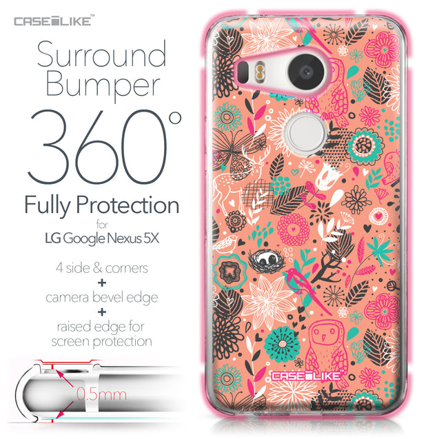 LG Google Nexus 5X case Spring Forest Pink 2242 Bumper Case Protection | CASEiLIKE.com