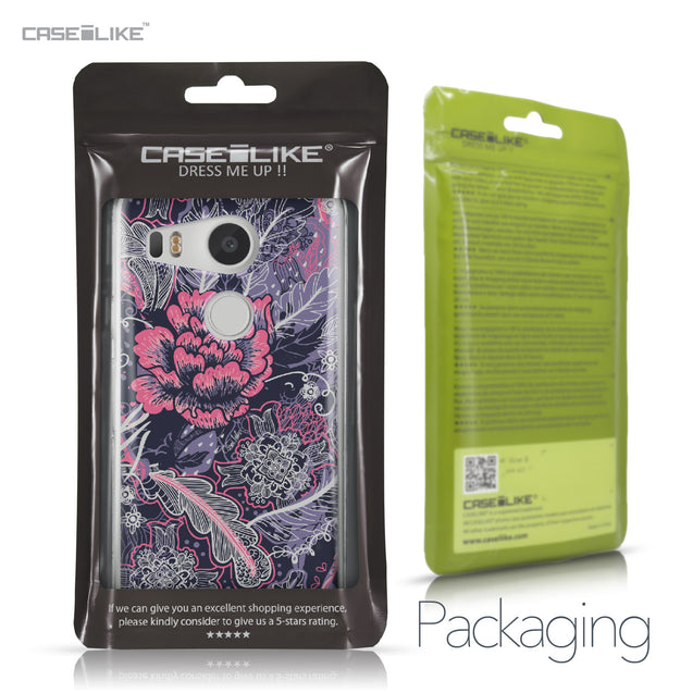 LG Google Nexus 5X case Vintage Roses and Feathers Blue 2252 Retail Packaging | CASEiLIKE.com