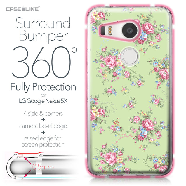 LG Google Nexus 5X case Floral Rose Classic 2262 Bumper Case Protection | CASEiLIKE.com