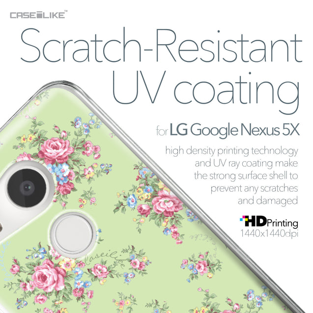 LG Google Nexus 5X case Floral Rose Classic 2262 with UV-Coating Scratch-Resistant Case | CASEiLIKE.com