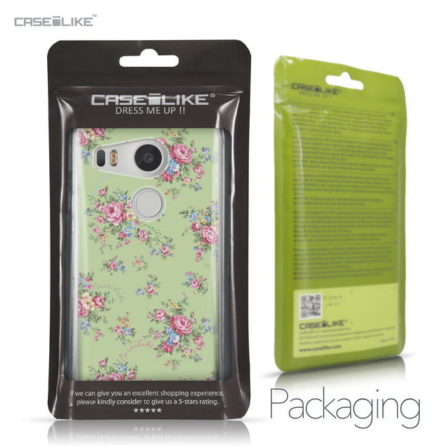 LG Google Nexus 5X case Floral Rose Classic 2262 Retail Packaging | CASEiLIKE.com