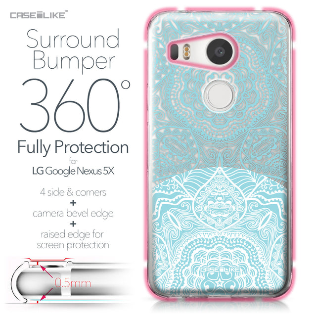 LG Google Nexus 5X case Mandala Art 2306 Bumper Case Protection | CASEiLIKE.com