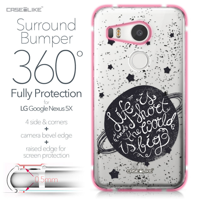 LG Google Nexus 5X case Quote 2401 Bumper Case Protection | CASEiLIKE.com