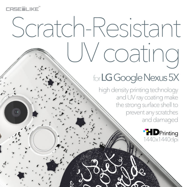 LG Google Nexus 5X case Quote 2401 with UV-Coating Scratch-Resistant Case | CASEiLIKE.com