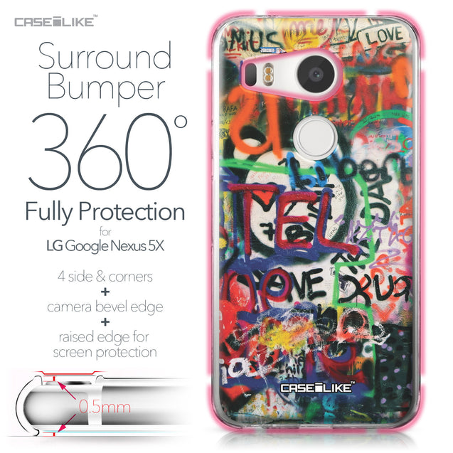 LG Google Nexus 5X case Graffiti 2721 Bumper Case Protection | CASEiLIKE.com