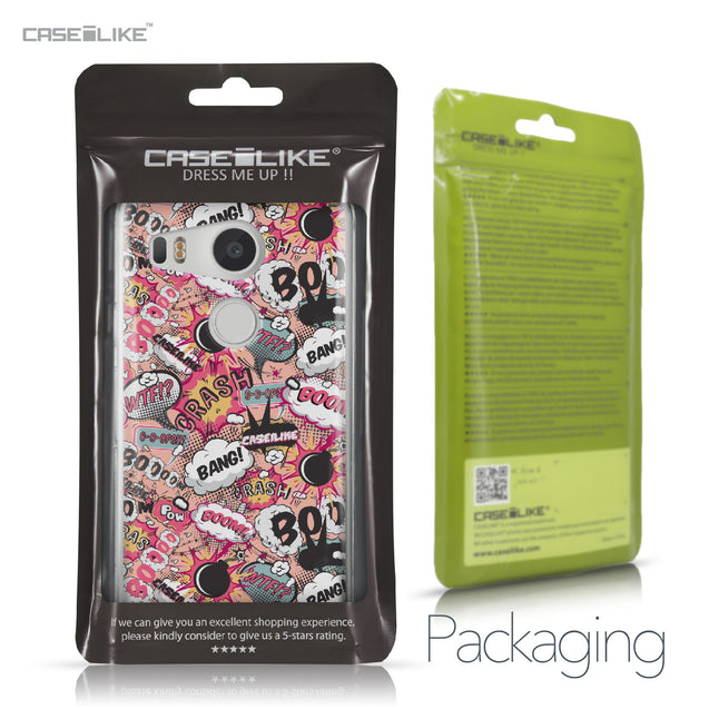 LG Google Nexus 5X case Comic Captions Pink 2912 Retail Packaging | CASEiLIKE.com