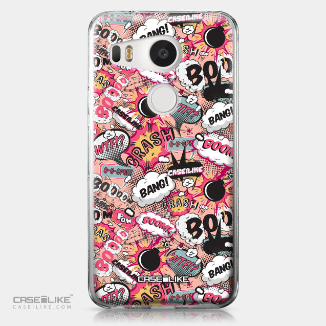 LG Google Nexus 5X case Comic Captions Pink 2912 | CASEiLIKE.com