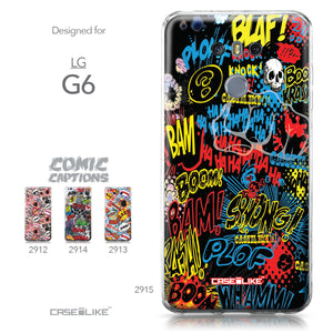 LG G6 case Comic Captions Black 2915 Collection | CASEiLIKE.com