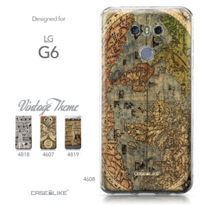 LG G6 case World Map Vintage 4608 Collection | CASEiLIKE.com