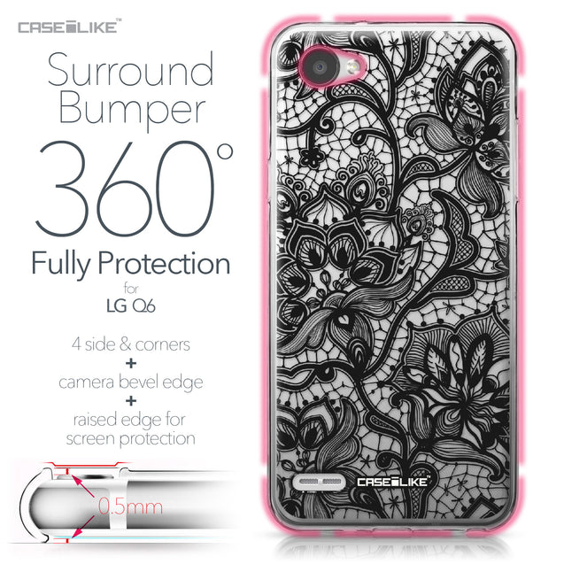 LG Q6 case Lace 2037 Bumper Case Protection | CASEiLIKE.com