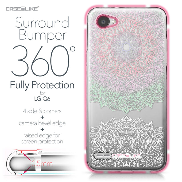 LG Q6 case Mandala Art 2092 Bumper Case Protection | CASEiLIKE.com