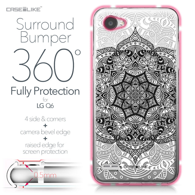 LG Q6 case Mandala Art 2097 Bumper Case Protection | CASEiLIKE.com