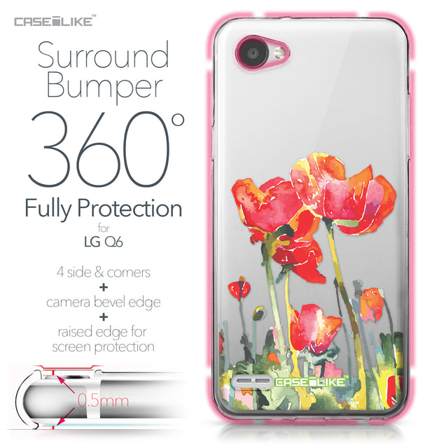 LG Q6 case Watercolor Floral 2230 Bumper Case Protection | CASEiLIKE.com