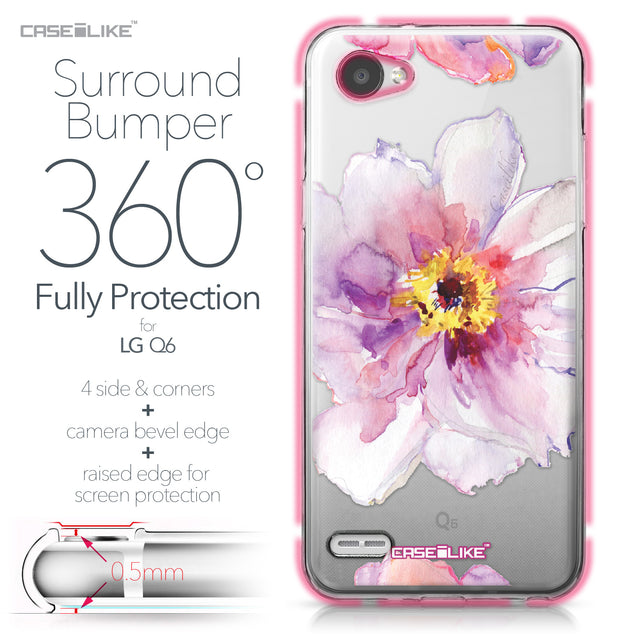 LG Q6 case Watercolor Floral 2231 Bumper Case Protection | CASEiLIKE.com