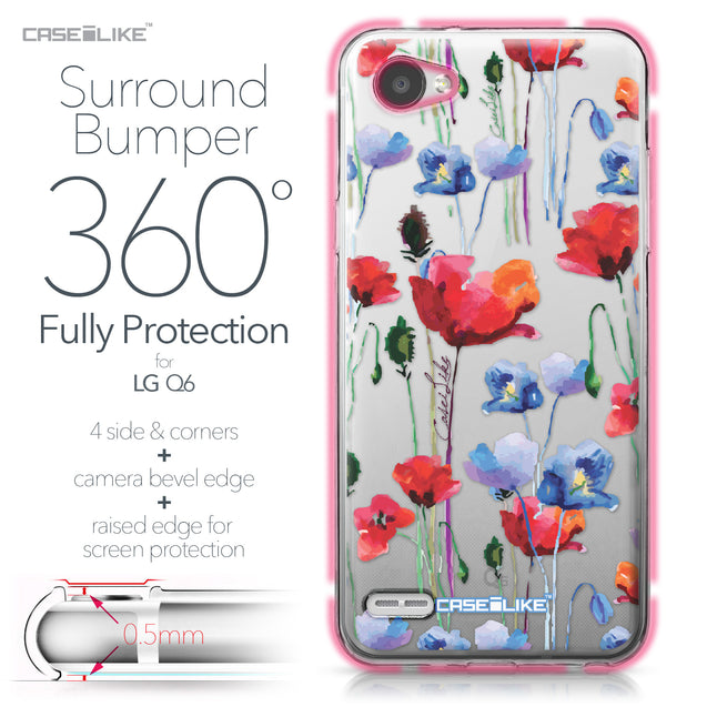 LG Q6 case Watercolor Floral 2234 Bumper Case Protection | CASEiLIKE.com