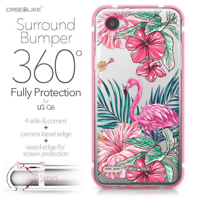 LG Q6 case Tropical Flamingo 2239 Bumper Case Protection | CASEiLIKE.com