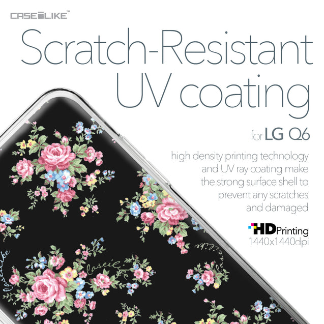 LG Q6 case Floral Rose Classic 2261 with UV-Coating Scratch-Resistant Case | CASEiLIKE.com
