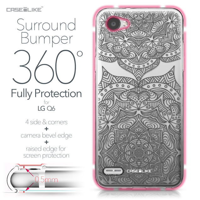 LG Q6 case Mandala Art 2304 Bumper Case Protection | CASEiLIKE.com