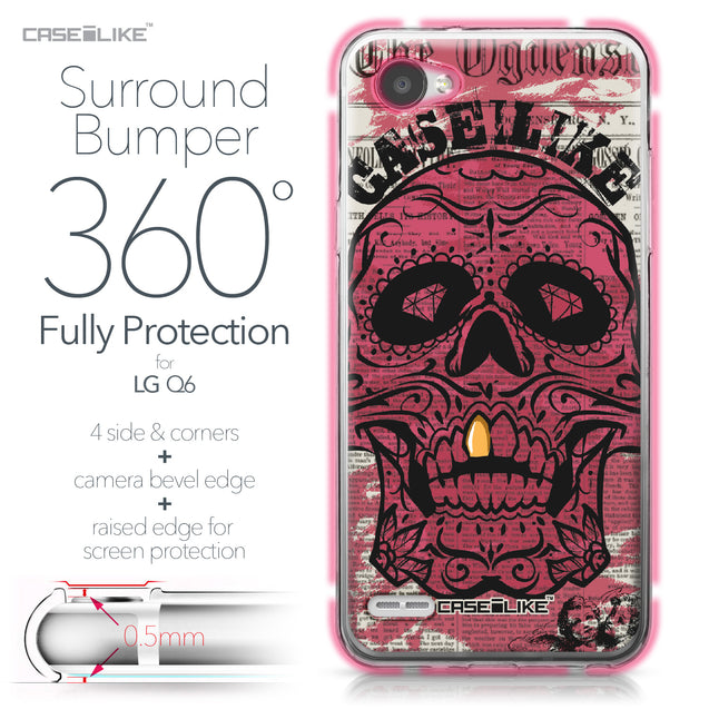 LG Q6 case Art of Skull 2523 Bumper Case Protection | CASEiLIKE.com