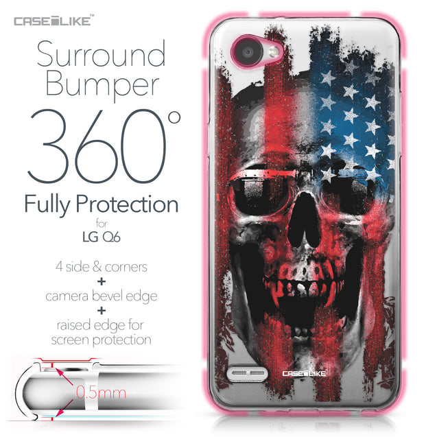 LG Q6 case Art of Skull 2532 Bumper Case Protection | CASEiLIKE.com