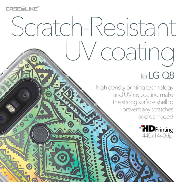 LG Q8 case Indian Line Art 2064 with UV-Coating Scratch-Resistant Case | CASEiLIKE.com