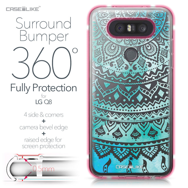 LG Q8 case Indian Line Art 2066 Bumper Case Protection | CASEiLIKE.com