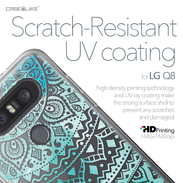 LG Q8 case Indian Line Art 2066 with UV-Coating Scratch-Resistant Case | CASEiLIKE.com