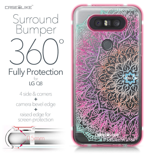 LG Q8 case Mandala Art 2090 Bumper Case Protection | CASEiLIKE.com
