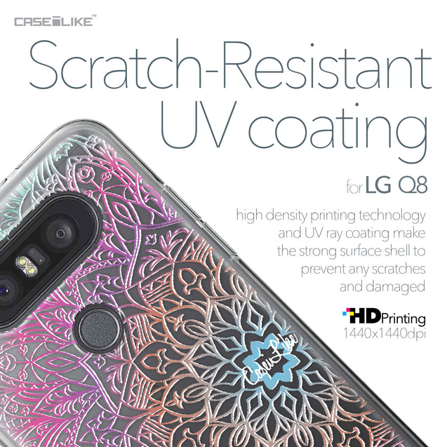 LG Q8 case Mandala Art 2090 with UV-Coating Scratch-Resistant Case | CASEiLIKE.com