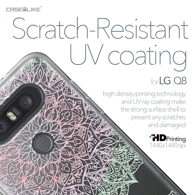 LG Q8 case Mandala Art 2092 with UV-Coating Scratch-Resistant Case | CASEiLIKE.com