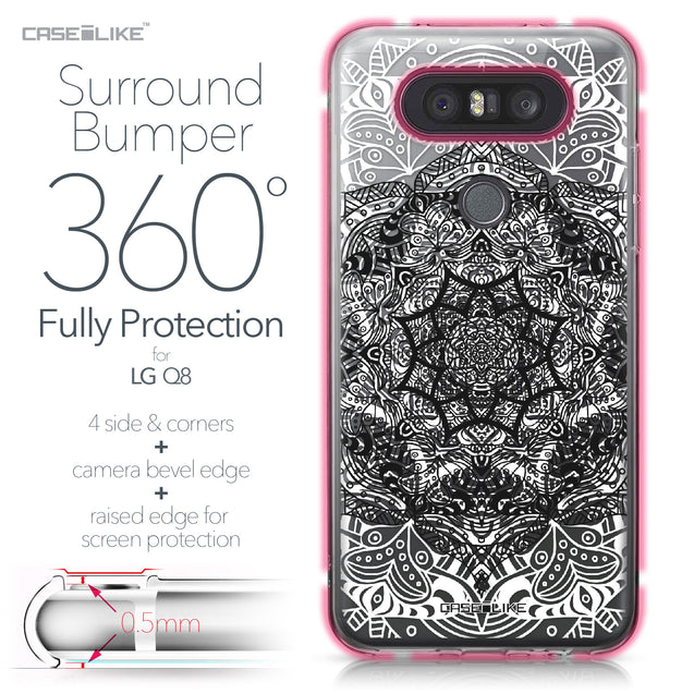 LG Q8 case Mandala Art 2097 Bumper Case Protection | CASEiLIKE.com