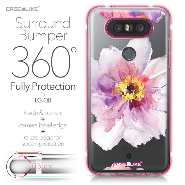 LG Q8 case Watercolor Floral 2231 Bumper Case Protection | CASEiLIKE.com