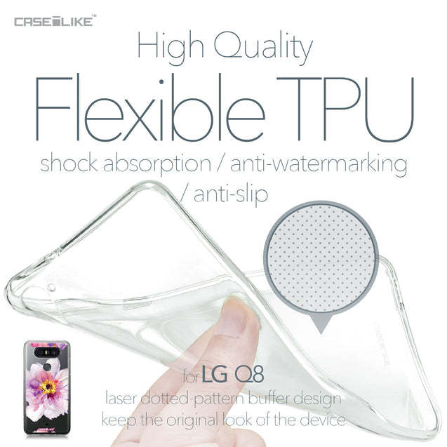 LG Q8 case Watercolor Floral 2231 Soft Gel Silicone Case | CASEiLIKE.com