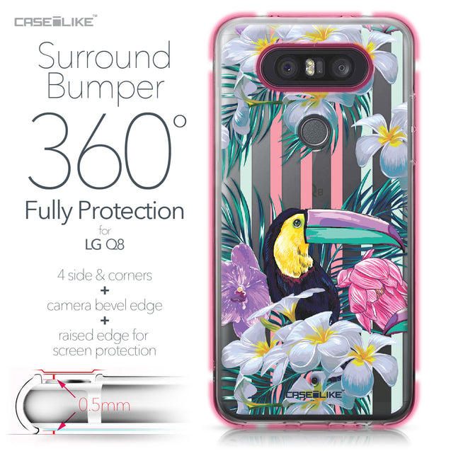 LG Q8 case Tropical Floral 2240 Bumper Case Protection | CASEiLIKE.com