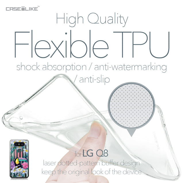 LG Q8 case Tropical Floral 2240 Soft Gel Silicone Case | CASEiLIKE.com