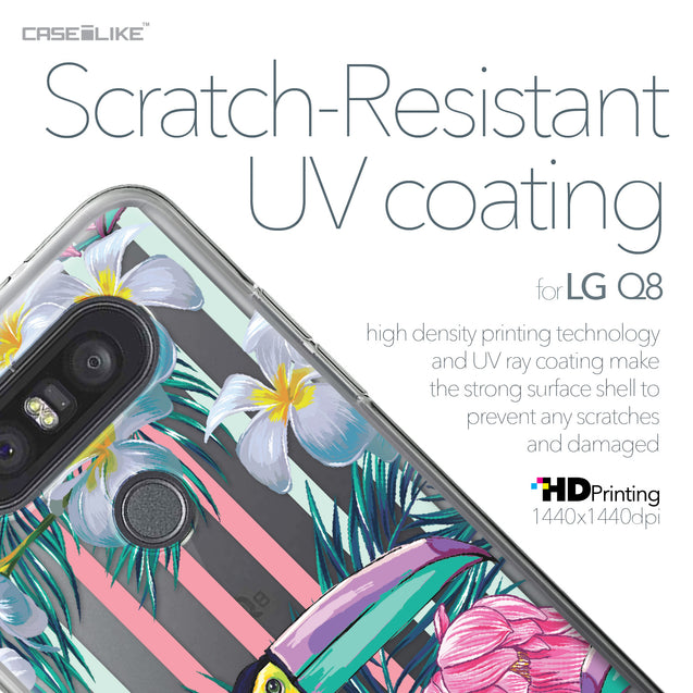 LG Q8 case Tropical Floral 2240 with UV-Coating Scratch-Resistant Case | CASEiLIKE.com