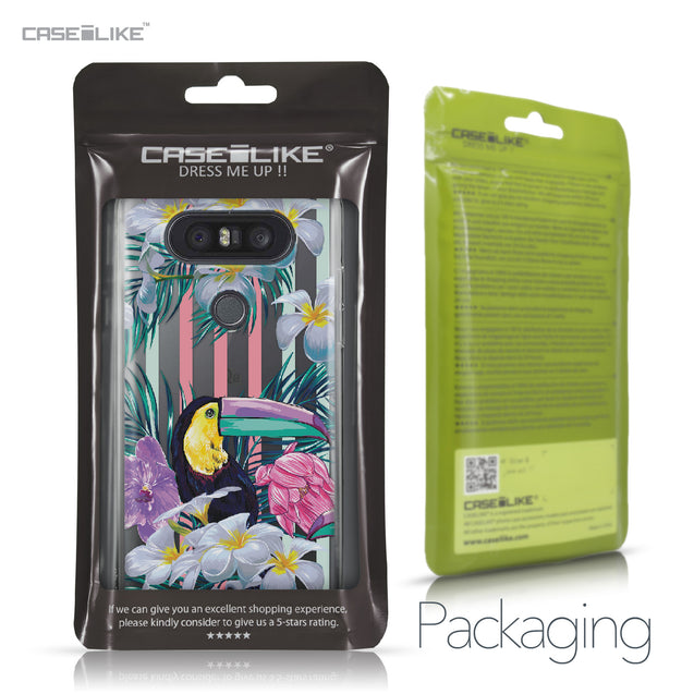 LG Q8 case Tropical Floral 2240 Retail Packaging | CASEiLIKE.com